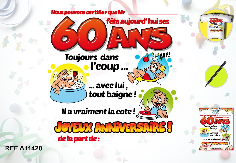 60 ans anniversaire homme
