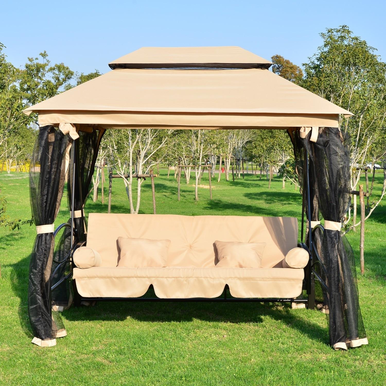 balancelle convertible en lit de jardin