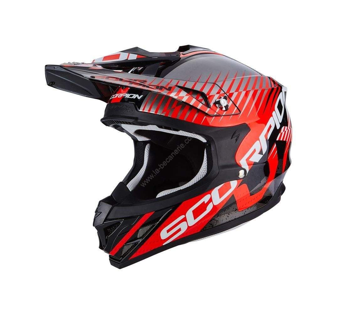 casque moto cross rouge