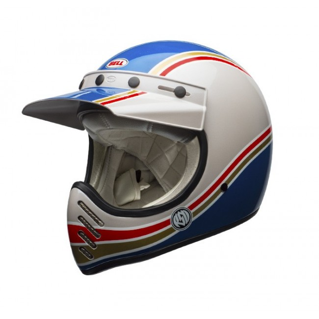 casque moto cross vintage