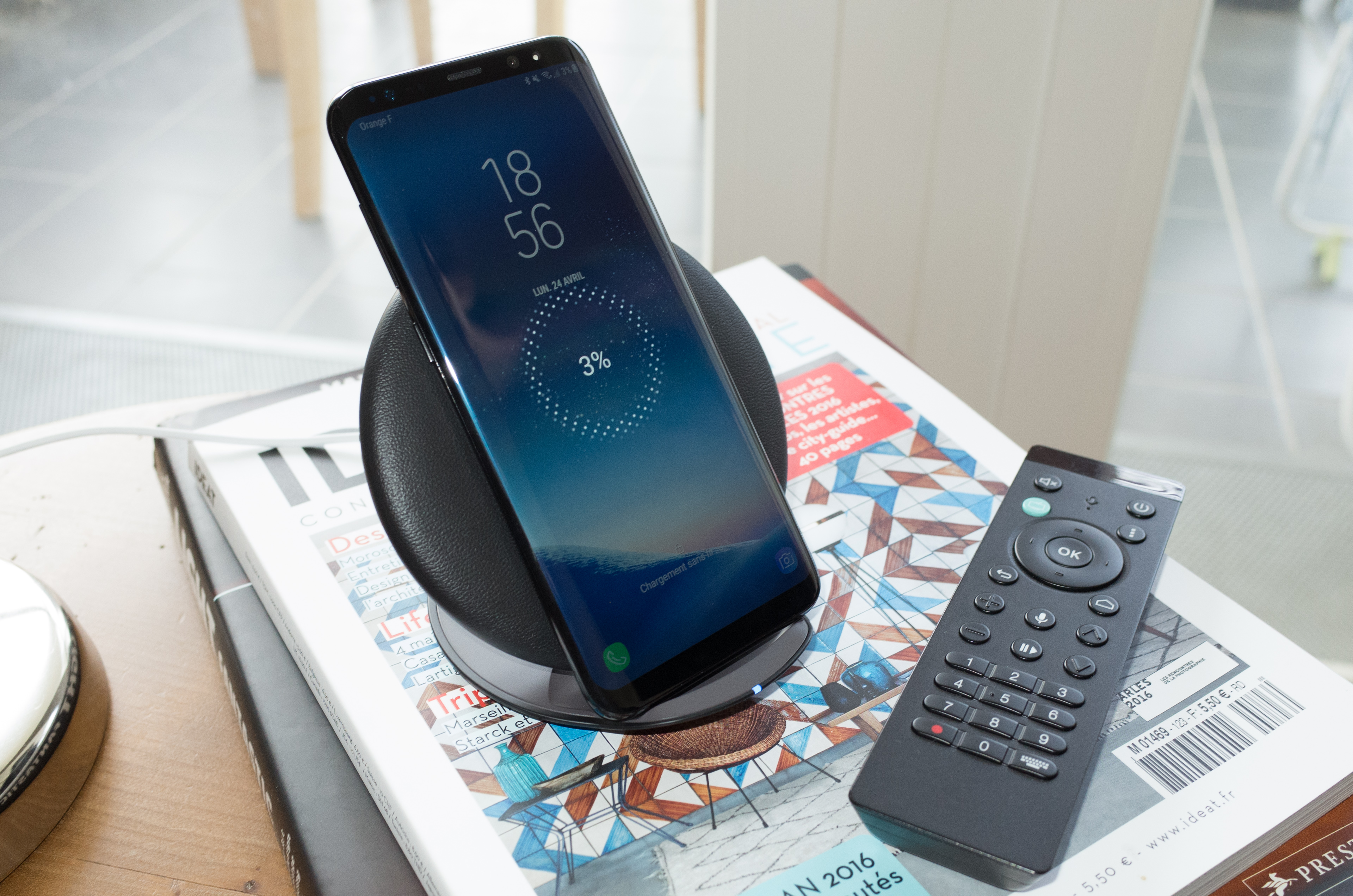 chargeur induction samsung s8