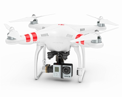 drone pour camera gopro
