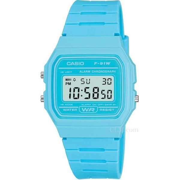 montre casio bleu