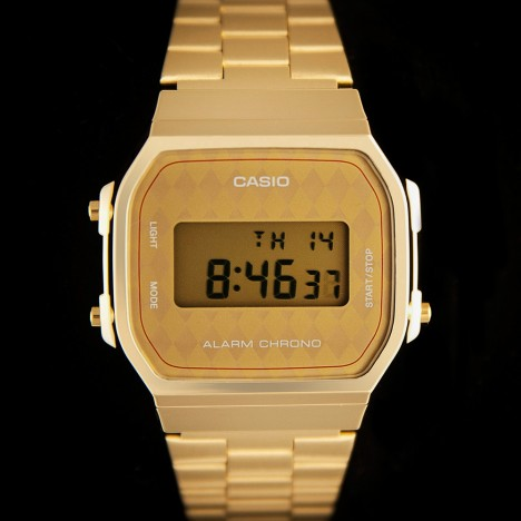 montre casio vintage dorée