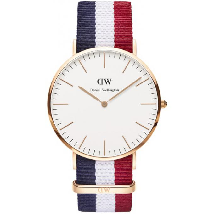 montre daniel wellington bleu blanc rouge