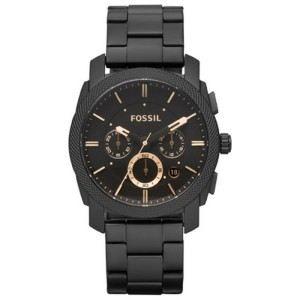 montre fossil acier noir