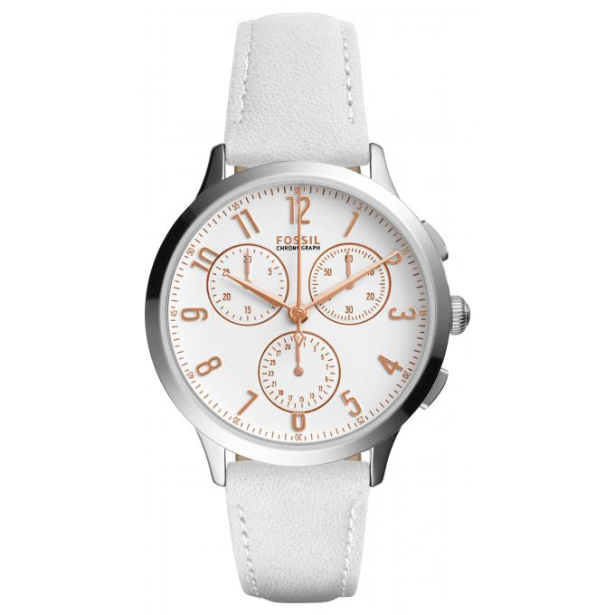 montre fossil blanche