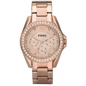 montre fossil rose