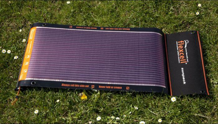 panneau solaire randonnee