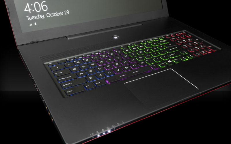pc portable avec clavier rétro éclairé