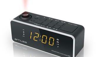 radio reveil projection heure plafond