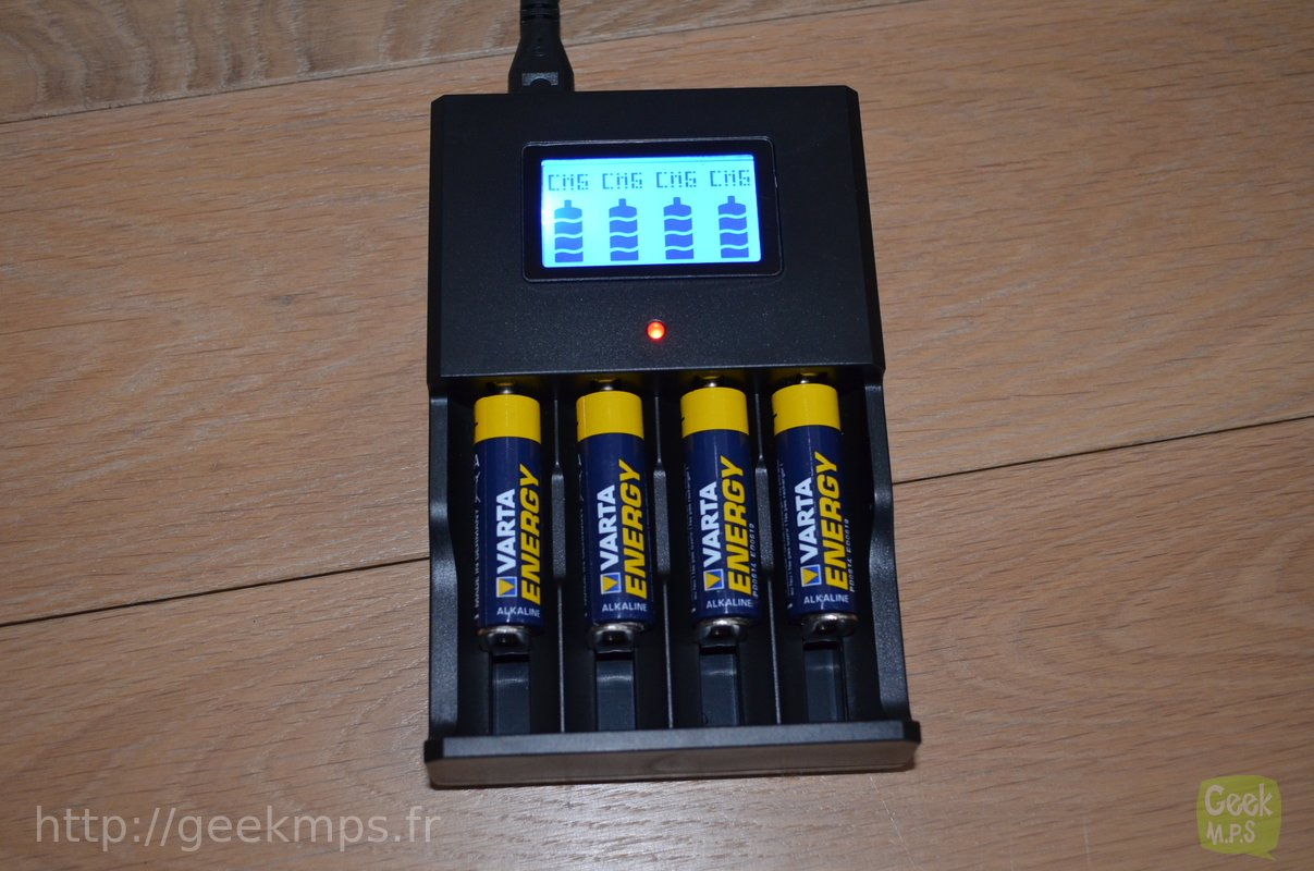 test chargeur pile